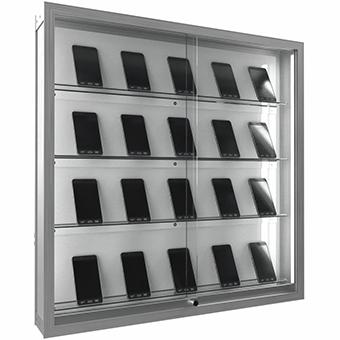 中古スマートフォンの陳列棚一台